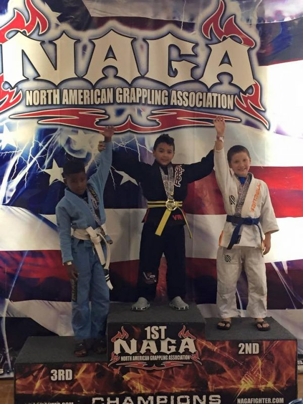Bryan Picallo winning 1st Place in Gi Division