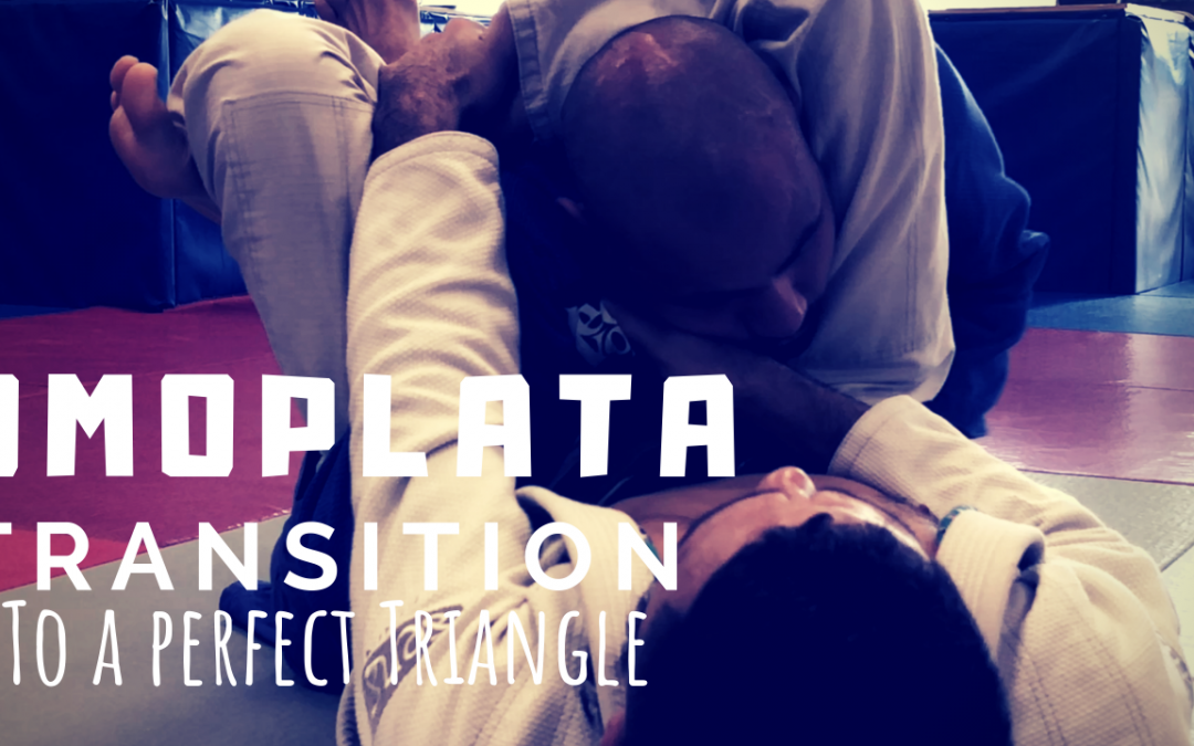 Omoplata position into a perfect triangle
